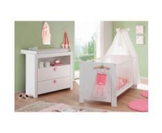 Baby Spar-Set »Trend«, Babybett + Wickelkommode, (2-tlg.), in weiß, weiß, weiß matt