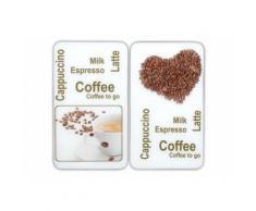 SET: Herd-Abdeckplatten, Wenko, »Kaffeegenuss« (2 Stck.), weiß, Unisex