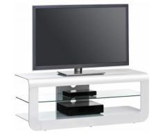 TV-Rack, Maja Möbel, »164«, Breite 120 cm, weiß, weiß Hochglanz-Weißglas