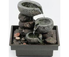 Zimmerbrunnen »Floating Stones«, grau, grau