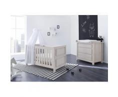 Pinolino Babyzimmer Set (2-tlg) Sparset »Line« breit, grau, Unisex, eiche/grau