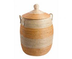 heine home Korb mit Deckel, natur, Unisex, natur/orange