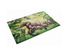 Kinderteppich, »Lovely Kids 404«, Böing Carpet, rechteckig, Höhe 6 mm, gedruckt, grün, grün-grau