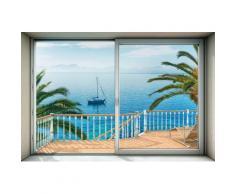 Komar, Vlies Fototapete »Tranquillo«, 368/248 cm, Komar, blau, blau/braun/rot/grün