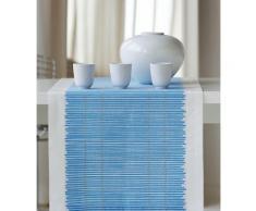 Tischläufer, Apelt, »3033 Loft Bambusmatte«, weiß, weiß-blau
