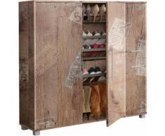 Schuhschrank, Schildmeyer, »Dorina«, mit 6 Schuhhalterungen, natur, Panama Eichefb.