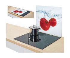 Zeller Present Herdblende-/Abdeckplatte »Tomato Splash«, 56 x 50 cm, weiß, Unisex, weiß, rot