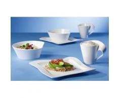 Villeroy & Boch Frühstück-Set, Porzellan, 6 Teile, »NewWave«, weiß, Unisex, weiß