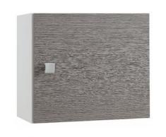 Hängeschrank, Schildmeyer, »Bozen«, grau, weiß-grau Struktur