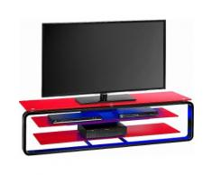 Maja Möbel TV-Rack, rot, schwarz Hochglanz/Glas rot