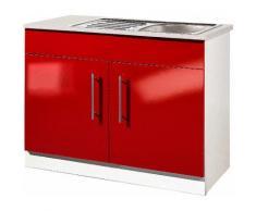 Spülenschrank »Aachen«, rot, Rot Glanz