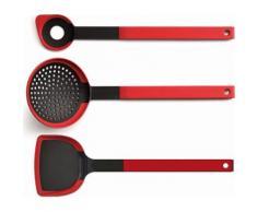 WOLL Küchenhelfer-Set, 3-tlg., »Cook it«, rot, Unisex, rot/schwarz