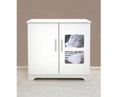 Wickelkommode passend zur Babymöbel Serie »Happy«, mit eigenem Babyfoto individualisierbar, weiß, weiß matt