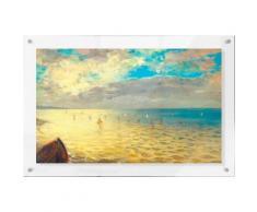 Premium collection by Home affaire Acrylglasbild »Delacroix - Das Meer«, 98/68 cm, gelb, gelb