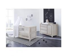 Pinolino Babyzimmer Set (2-tlg) Sparset »Line« extrabreit, grau, Unisex, eiche/grau