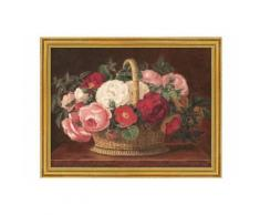 Home affaire, Bild, Kunstdruck mit Rahmen, »Rosen im Korb«, 79,6/59,6 cm, rot, Unisex