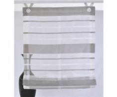Raffrollo, Kutti, »Fancy Streifen«, mit Hakenaufhängung (1 Stück) ohne Bohren, silberfarben, silber