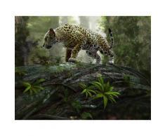 Home affaire Fototapete »Jaguar on the Prowl«, 350/260 cm, grün, grün/grau