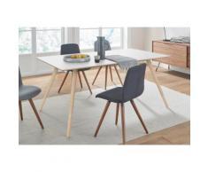 andas Esstisch »stick« mit Massivholzgestell, in zwei Breiten, weiß, white oak/Laminat weiß