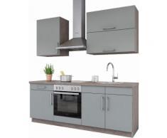 set one by Musterring Küchenzeile »Nepal« ohne E-Geräte, Breite 210 cm, grau, Papyrus grau Samtlack