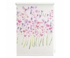 Seitenzugrollo, Lichtblick, »Klemmfix Dekor Monet Summer«, Lichtschutz, Fixmaß, ohne Bohren, weiß, weiss