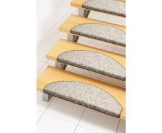 Stufenmatte, »Mats«, Andiamo, stufenförmig, Höhe 8 mm, maschinell getuftet, braun, Unisex, hellbraun