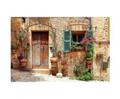 Home affaire Fototapete »Charming Street«, 350/260 cm, natur, beige/braun