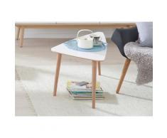 andas Couchtisch »Jib«, white oak massiv, mit segelförmiger Tischplatte, in zwei Höhen, weiß, Laminat weiß