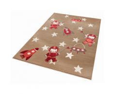 Kinder-Teppich, Zala Living, »Astronaut«, Höhe 9 mm, gewebt, natur, beige/rot