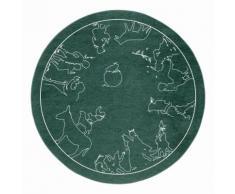 Kinderteppich, »Märchen 7«, grimmliis, rund, Höhe 2 mm, maschinell gewebt, grün, grün
