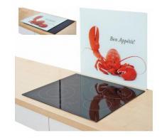 Zeller Present Herdblende-/Abdeckplatte »Hummer«, weiß, 56 x 50 cm, weiß, Unisex, weiß, rot