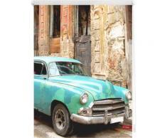 Seitenzugrollo, Lichtblick, »Klemmfix Dekor Kuba«, Lichtschutz, Fixmaß, ohne Bohren, braun, türkis braun