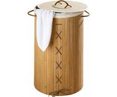 WENKO Wäschetruhe »Bamboo«, Natur, Wäschekorb,, braun, Braun, Wäschesack: Creme