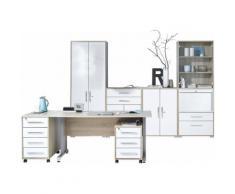 Maja Möbel Büromöbel-Set (6-tlg.) »1202«, natur, Sonoma-Eiche - weiß Hochglanz