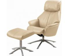 Set: Relaxsessel mit Hocker »Scandi 150«, mit integrierter stufenloser Kopfpolsterverstellung, Leder PRIME