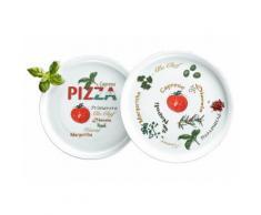 Pizzateller, Retsch Arzberg (6tlg.), weiß, Unisex, Weiß, mit mediterranem Motiv