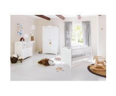 Pinolino Babyzimmer Set (3-tlg) Kinderzimmer »Florentina« breit, weiß, Unisex, weiß