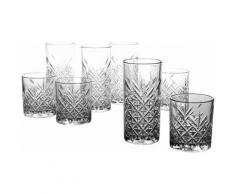 CreaTable Gläser-Set, 8 Teile, »TIMELESS«, transparent, Unisex, transparent