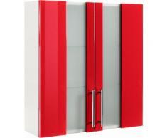 Hängeschrank, Kesper, »Visby«, Breite 65 cm, rot, weiß-rot