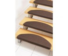 Stufenmatte, »Dortmund«, Dekowe, stufenförmig, Höhe 8 mm, maschinell gewebt, braun, Unisex, dunkelbraun