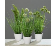Home affaire Kunstpflanze »Gras im Topf« (3er Set), grün, grün
