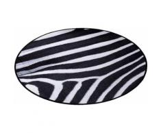 Teppich, Zala Living, »Animal Print Zebra« in Fell-Optik, rund, schwarz, Schwarz Weiß