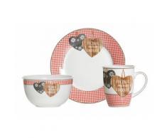 Frühstück-Set, Ritzenhoff & Breker (3tlg.), rot, Unisex, rot