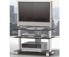 TV-Rack, Just Racks, Breite 85 cm, schwarz, Schwarzglas