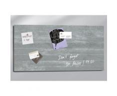 Sigel Glas-Magnettafel, Inkl. SuperDym-Magneten, grau, betonfarben