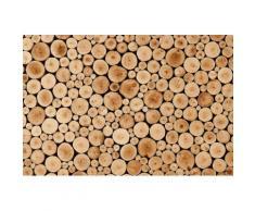 Home affaire Fototapete »Round Teak Wood«, 350/260 cm, natur, beige/braun