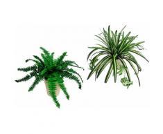 Home affaire, Kunstpflanze, »Farn und Wasserlilie«, (2-tlg.), grün