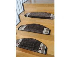Stufenmatte, »Casco 1«, Living Line, stufenförmig, Höhe 8 mm, maschinell getuftet, braun, Unisex, braun