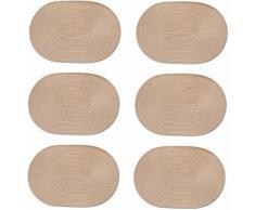 Zeller Present Platzset, oval, 30 x 46 cm (6tlg.), natur, Unisex, natur