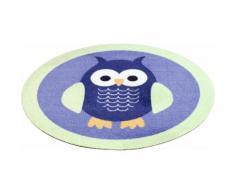 Kinder-Teppich Rund, Zala Living, »Eulen«, getuftet, blau, blau grün